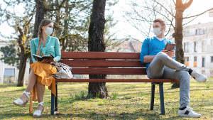 Maskenpflicht und Abstand