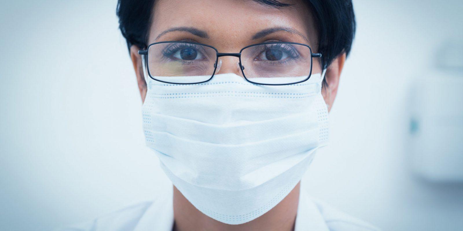 Beschlagene Brille durch Masken