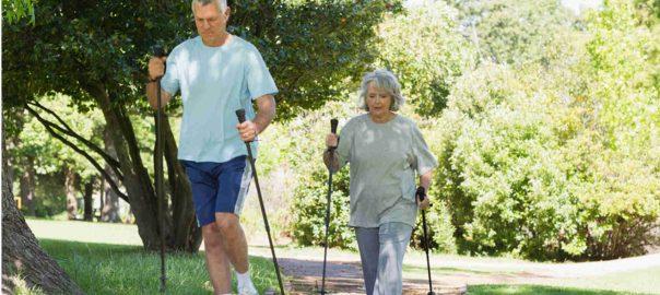gehen undWalken für ein längeres Leben