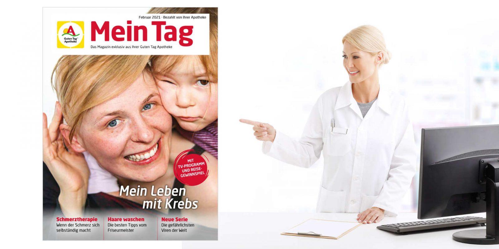 """Kundenmagazin """"Mein Tag"""" aus der Sonnen-Apotheke, Bergkamen."""